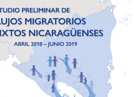 Mapa de Nicaragua con el título del estudio